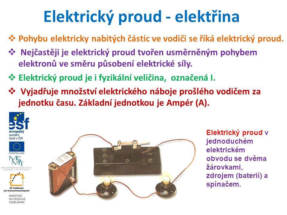 Elektrický proud - elektřina