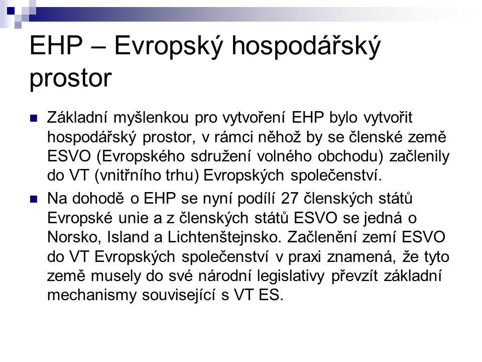 EHP – Evropský hospodářský prostor