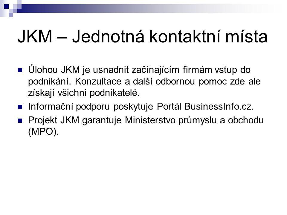 JKM – Jednotná kontaktní místa