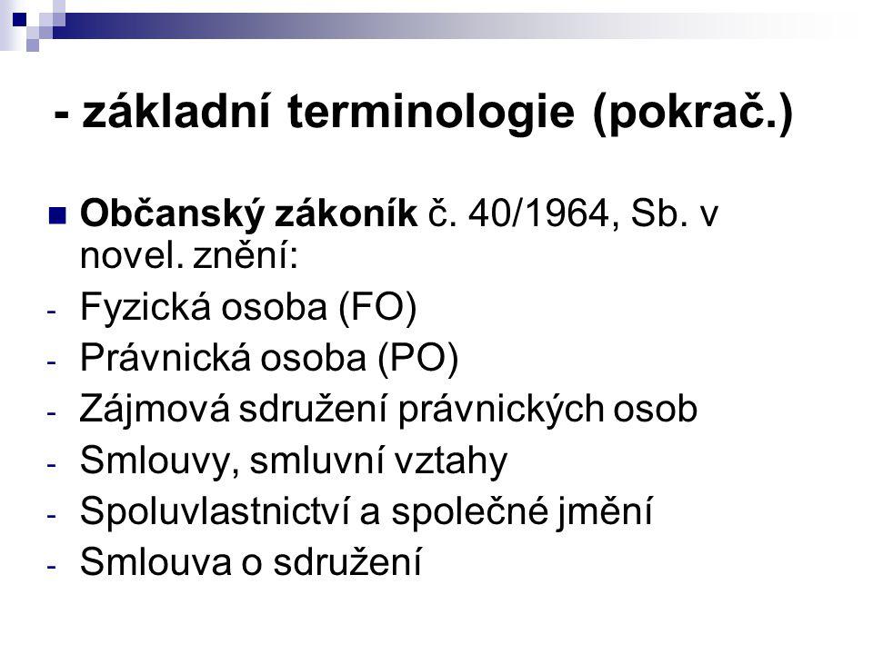- základní terminologie (pokrač.)