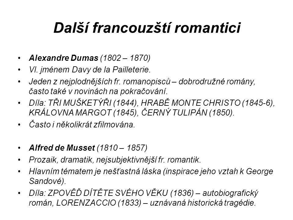 Další francouzští romantici