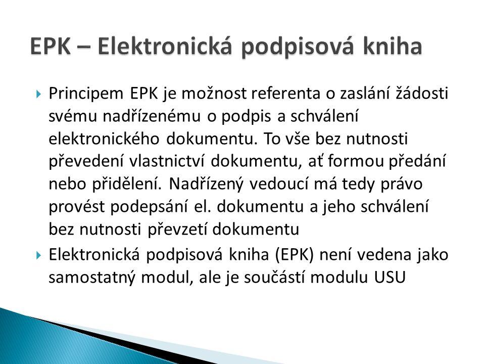 EPK – Elektronická podpisová kniha