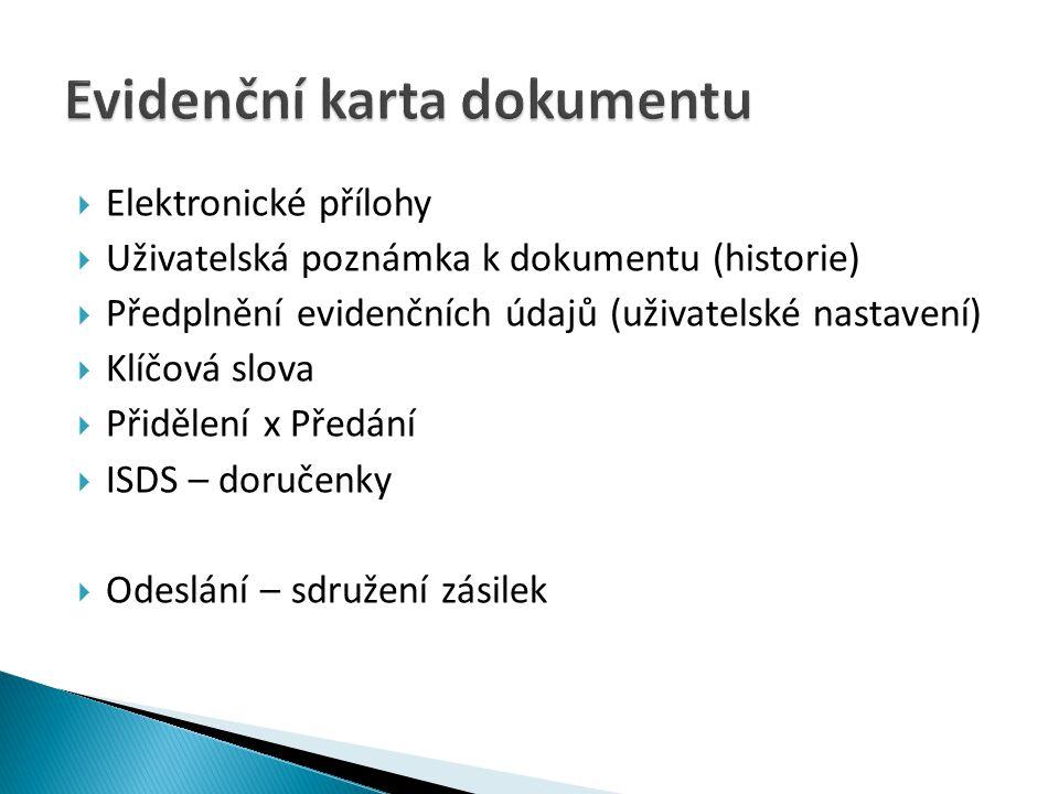 Evidenční karta dokumentu