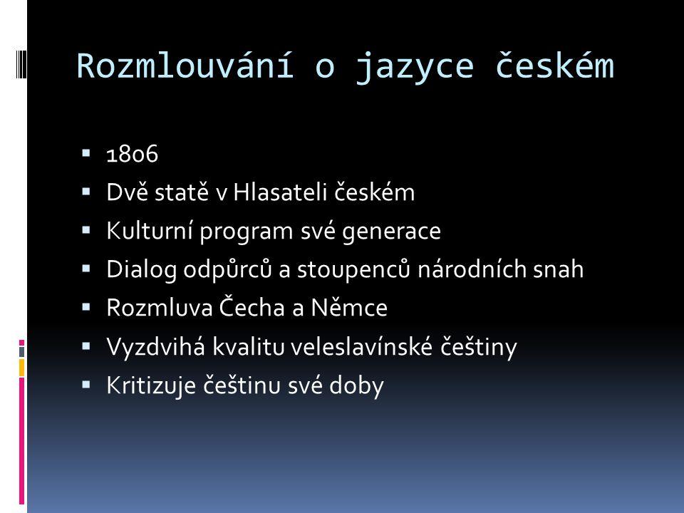 Rozmlouvání o jazyce českém