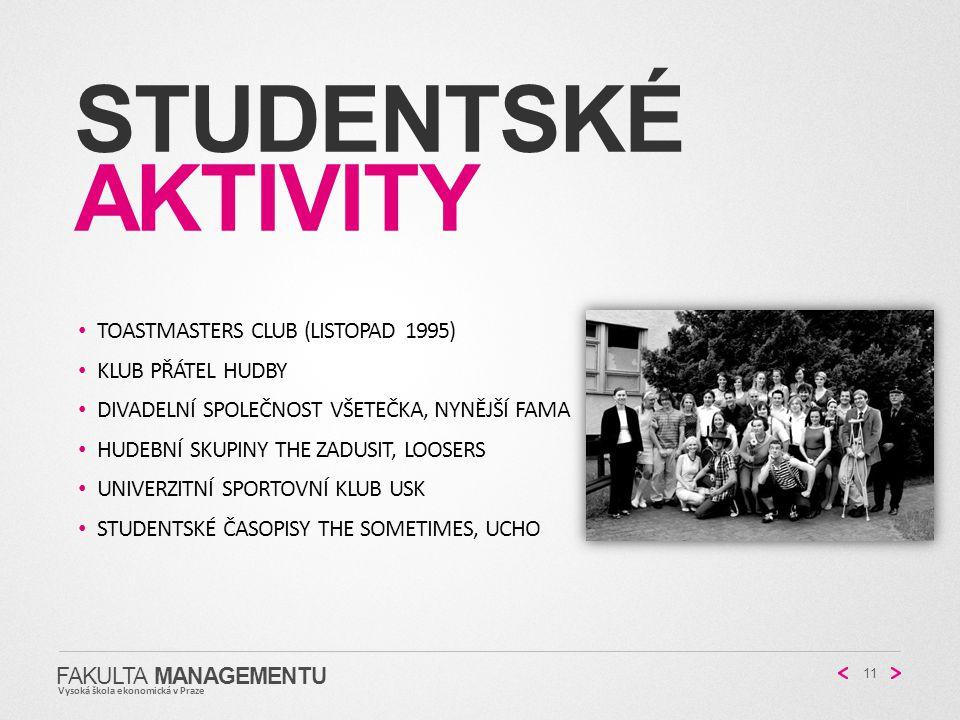 StudentskÉ Aktivity Toastmasters club (listopad 1995)