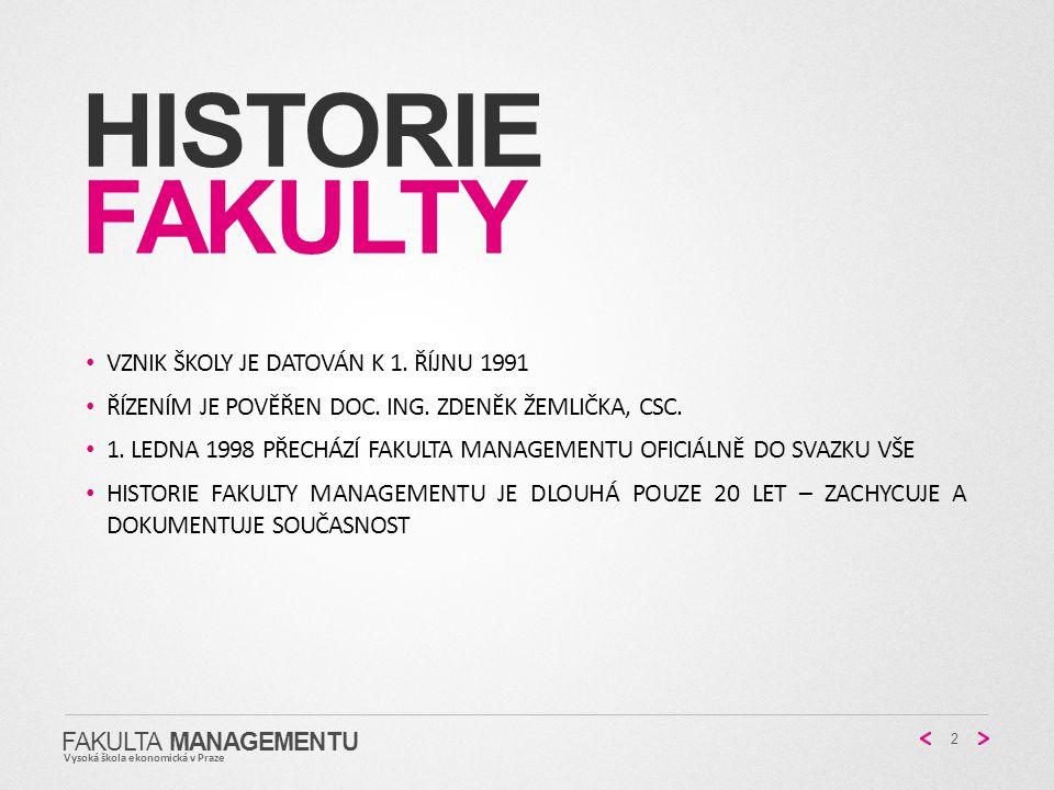 historie fakulty Vznik školy je datován k 1. říjnu 1991