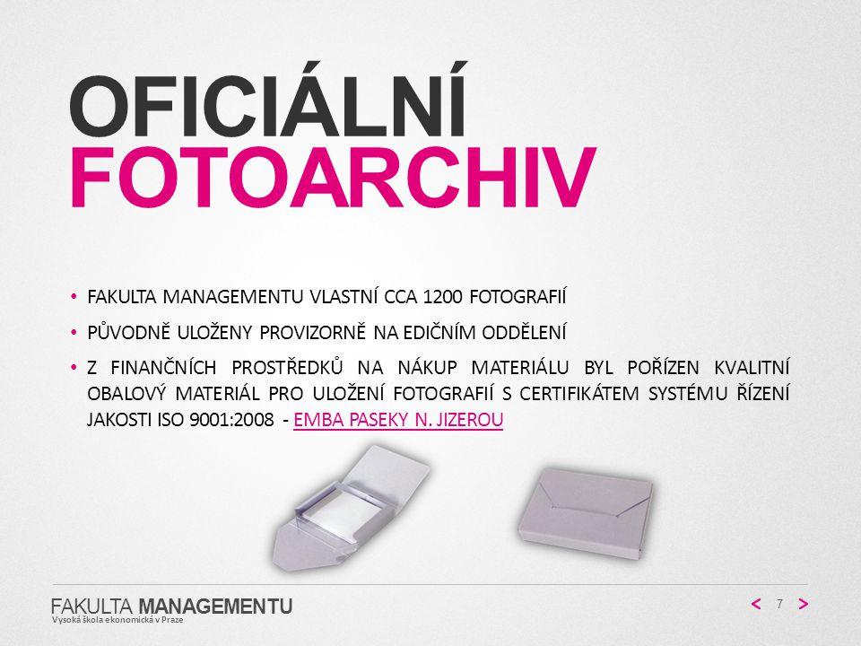 Oficiální fotoarchiv Fakulta managementu vlastní cca 1200 fotografií