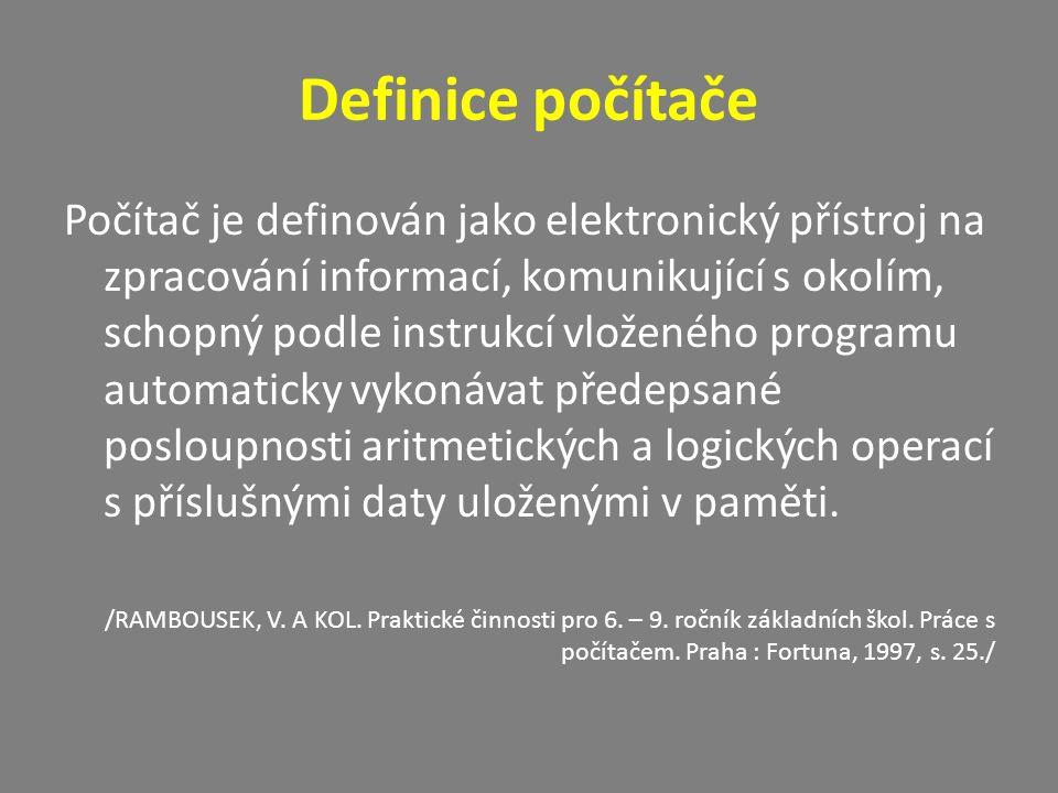 Definice počítače