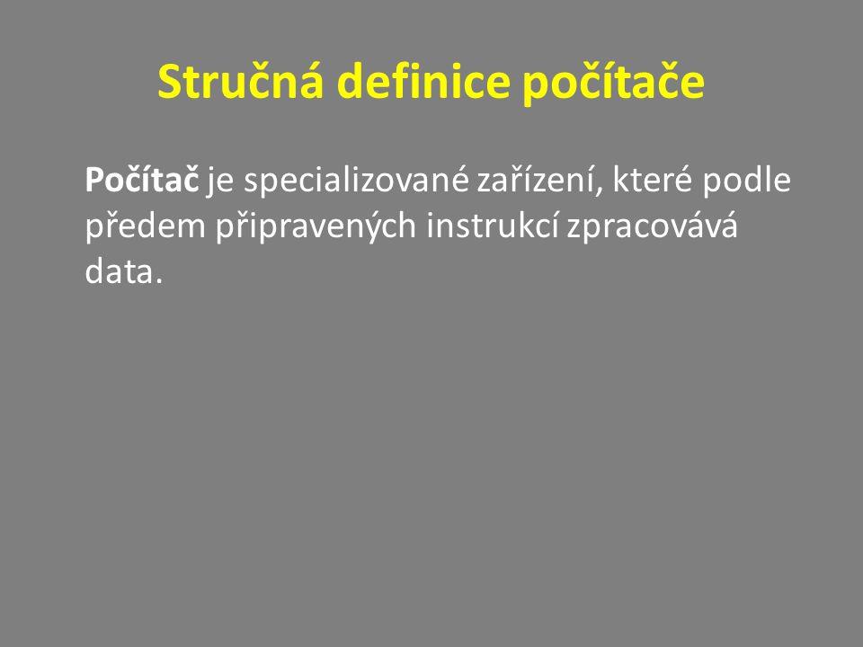 Stručná definice počítače