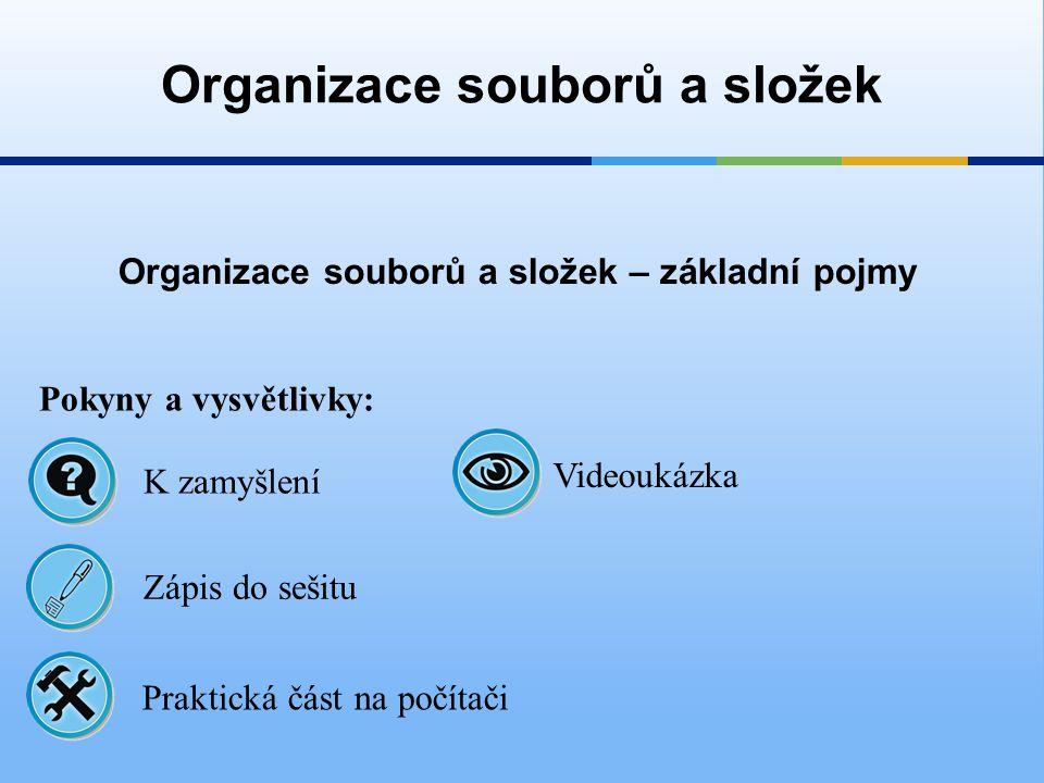 Organizace souborů a složek