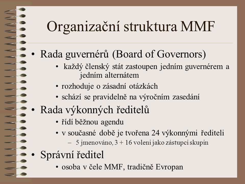 Organizační struktura MMF