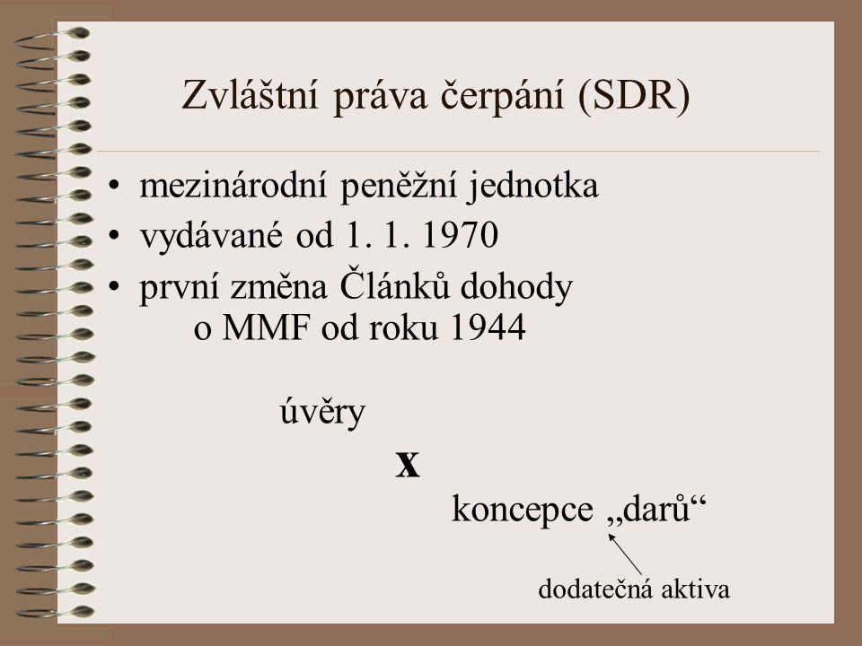 Zvláštní práva čerpání (SDR)
