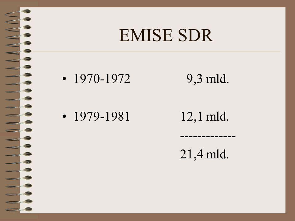 EMISE SDR 1970-1972 9,3 mld. 1979-1981 12,1 mld. -------------