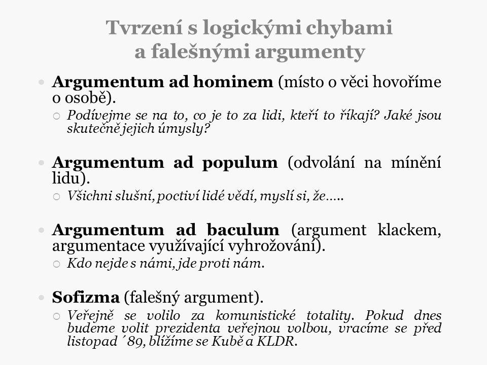 Tvrzení s logickými chybami a falešnými argumenty