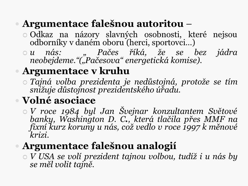 Argumentace falešnou autoritou –