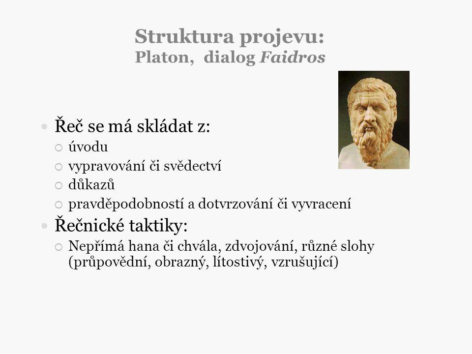 Struktura projevu: Platon, dialog Faidros