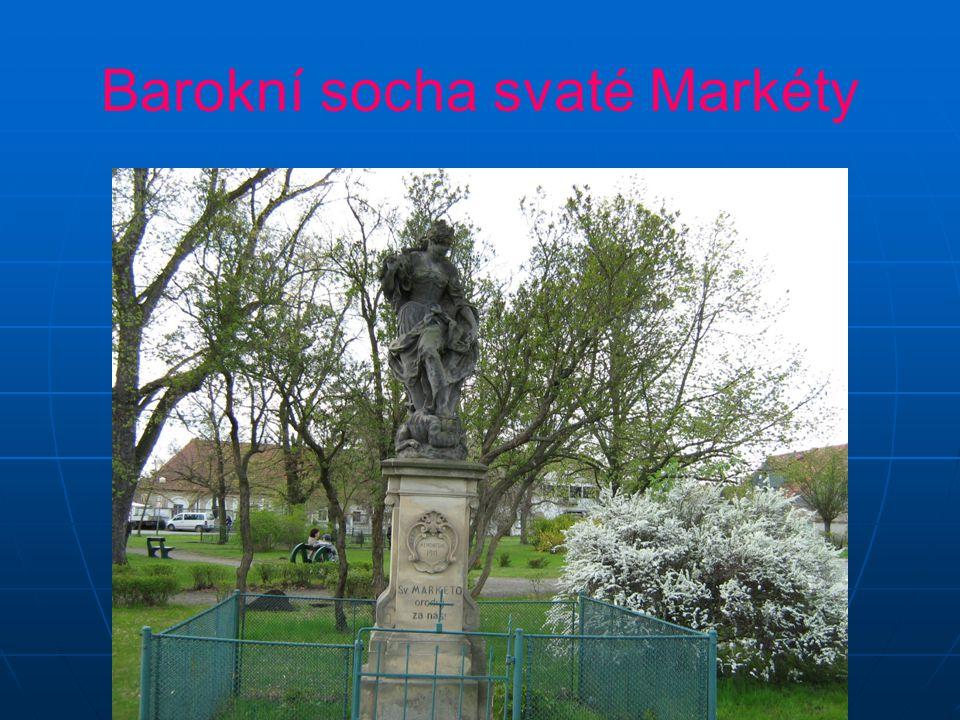 Barokní socha svaté Markéty