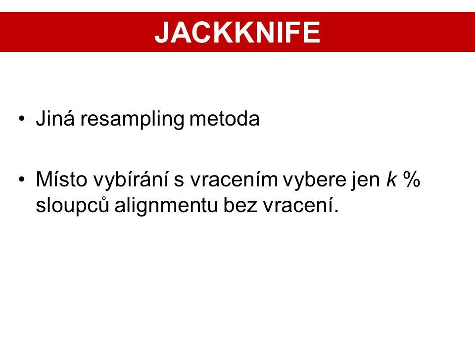 JACKKNIFE Jiná resampling metoda