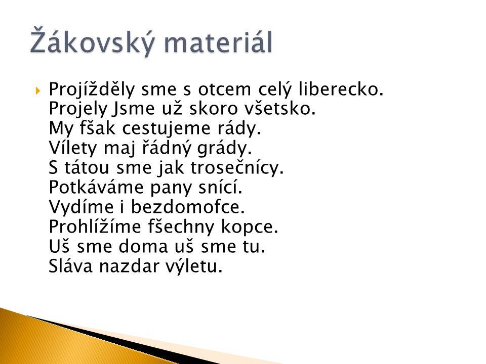 Žákovský materiál