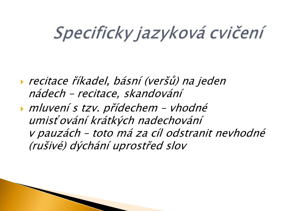Specificky jazyková cvičení