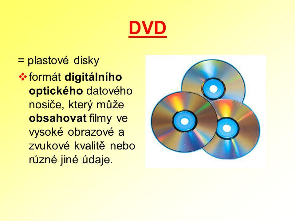 DVD = plastové disky.