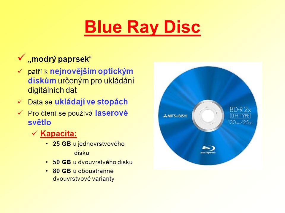"Blue Ray Disc ""modrý paprsek Kapacita:"