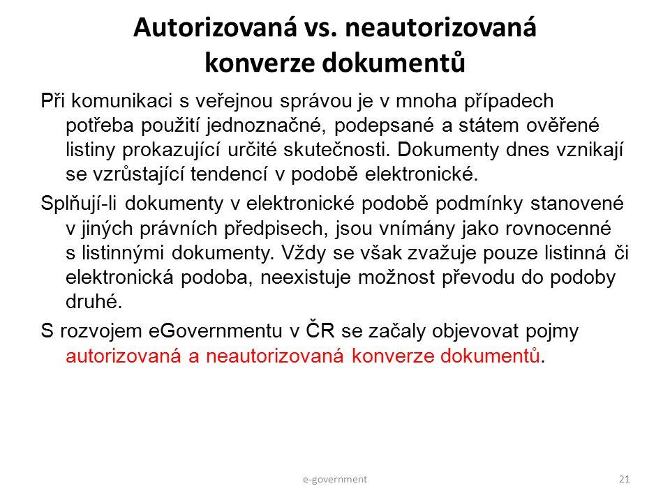 Autorizovaná vs. neautorizovaná konverze dokumentů