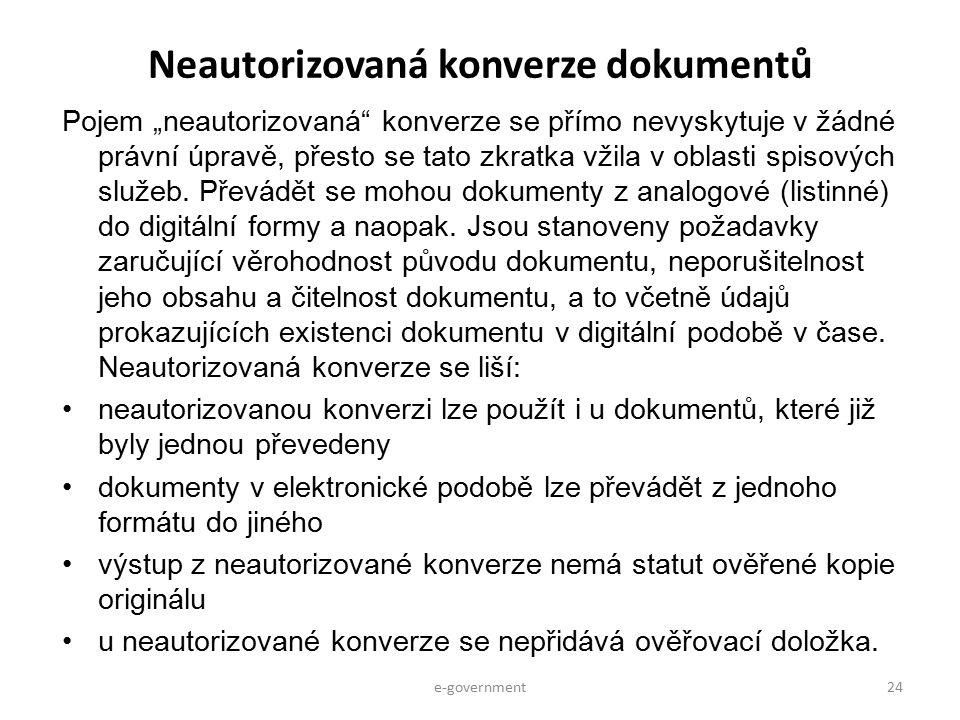Neautorizovaná konverze dokumentů