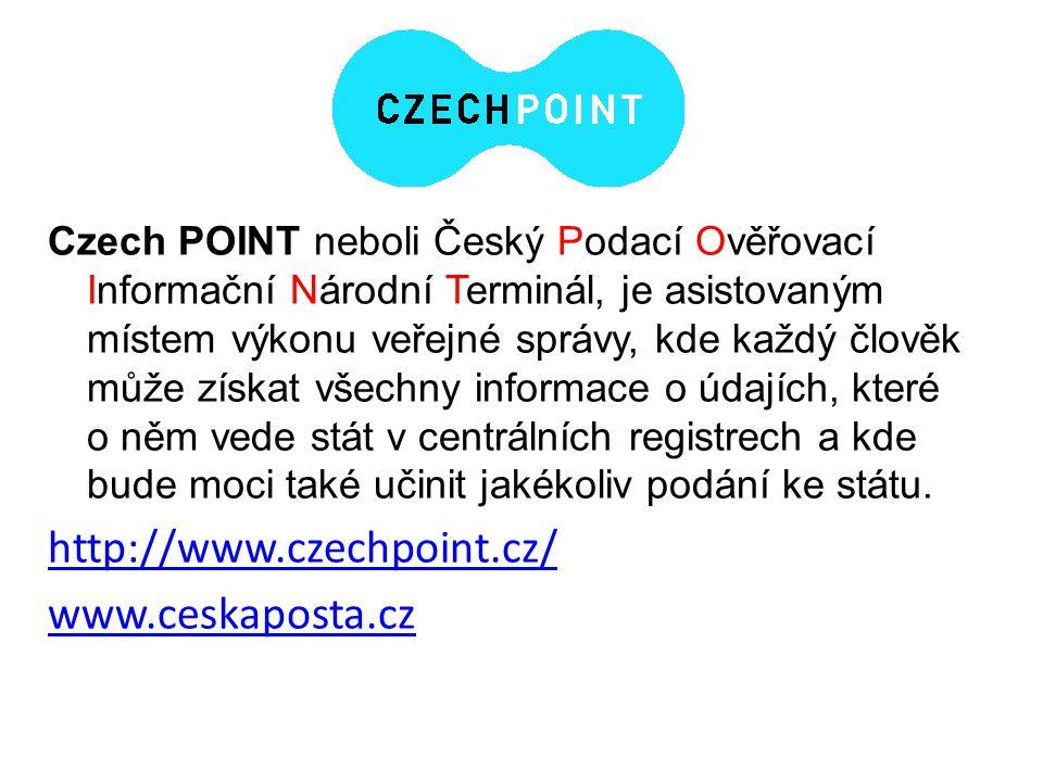 http://www.czechpoint.cz/ www.ceskaposta.cz