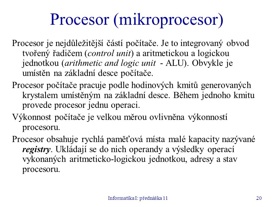 Procesor (mikroprocesor)