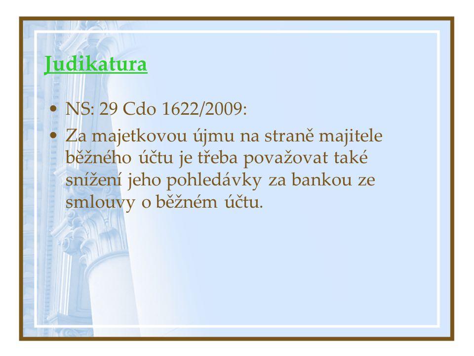 Judikatura NS: 29 Cdo 1622/2009: