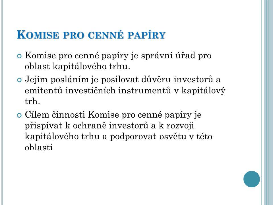 Komise pro cenné papíry