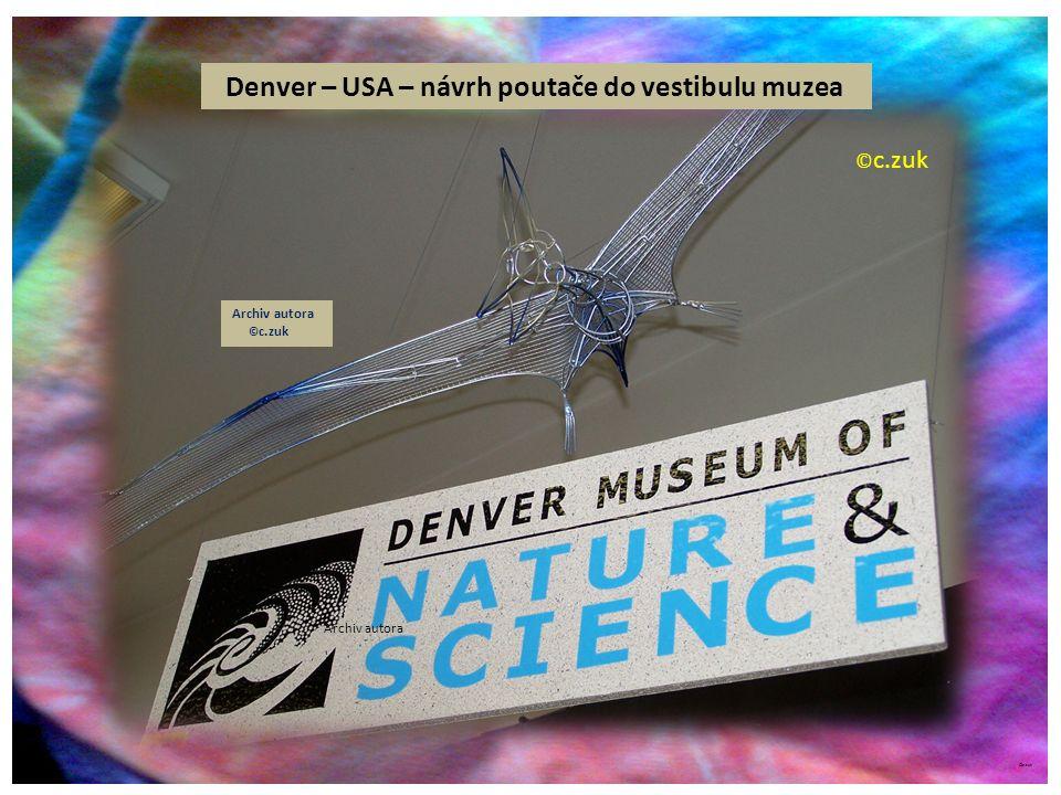 Denver – USA – návrh poutače do vestibulu muzea