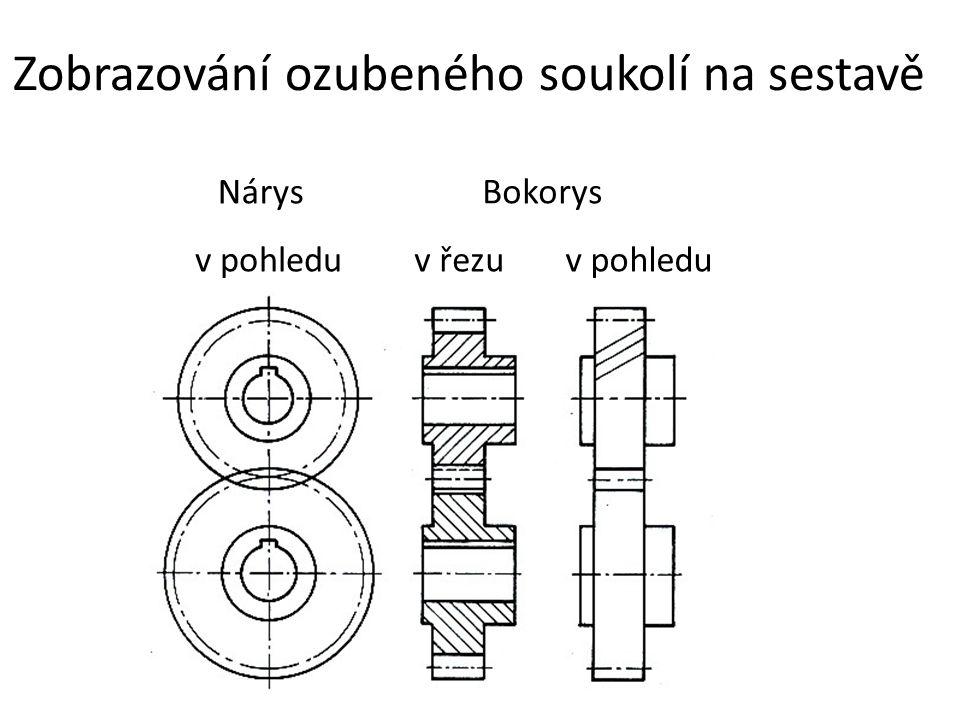 Zobrazování ozubeného soukolí na sestavě