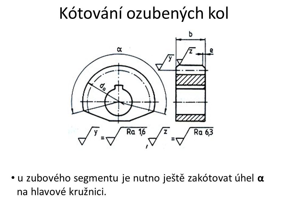 Kótování ozubených kol