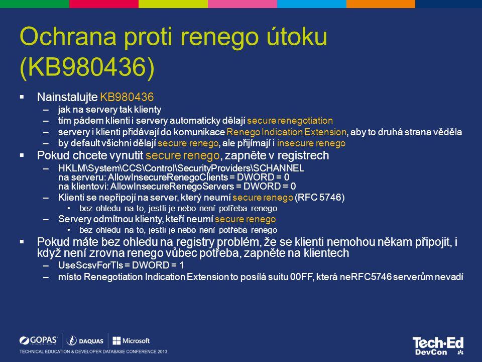 Ochrana proti renego útoku (KB980436)
