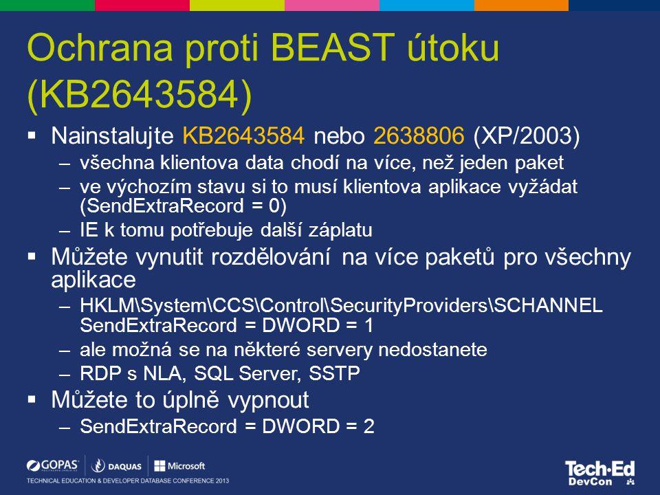 Ochrana proti BEAST útoku (KB2643584)