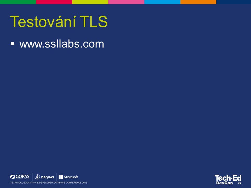 Testování TLS www.ssllabs.com