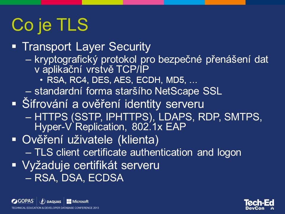 Co je TLS Transport Layer Security
