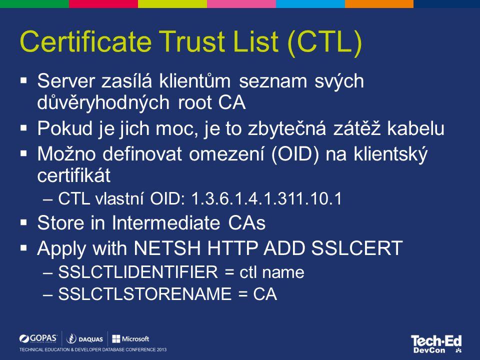 Certificate Trust List (CTL)