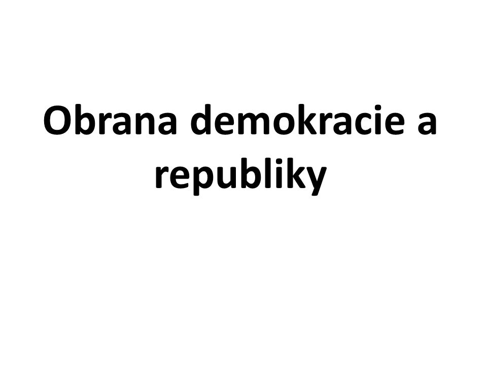 Obrana demokracie a republiky