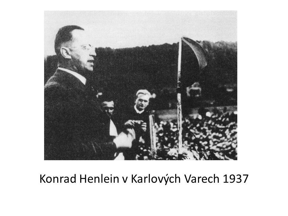 Konrad Henlein v Karlových Varech 1937