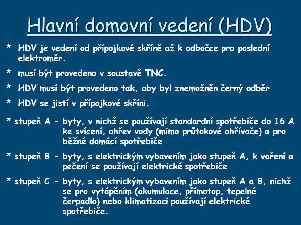 Hlavní domovní vedení (HDV)