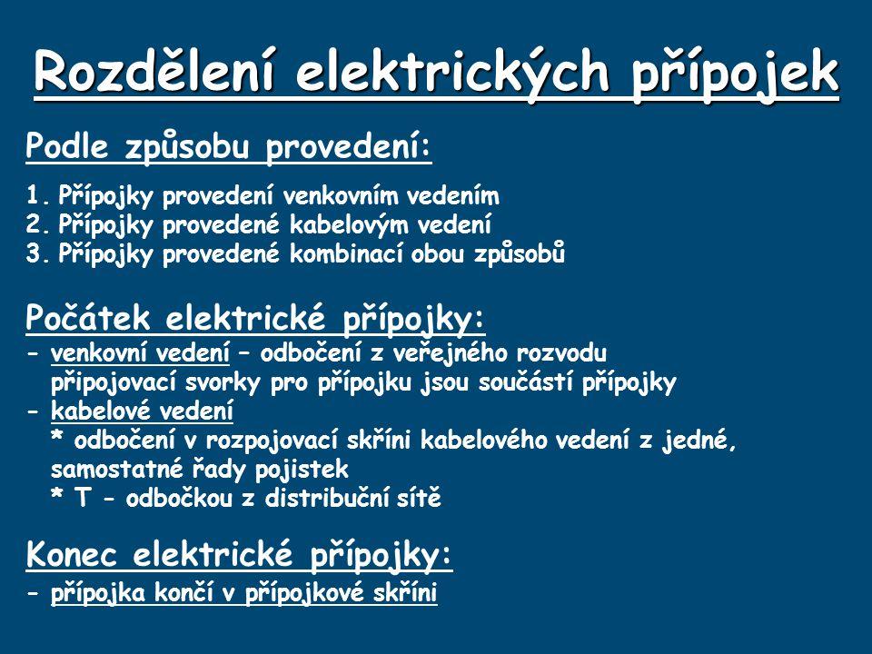 Rozdělení elektrických přípojek