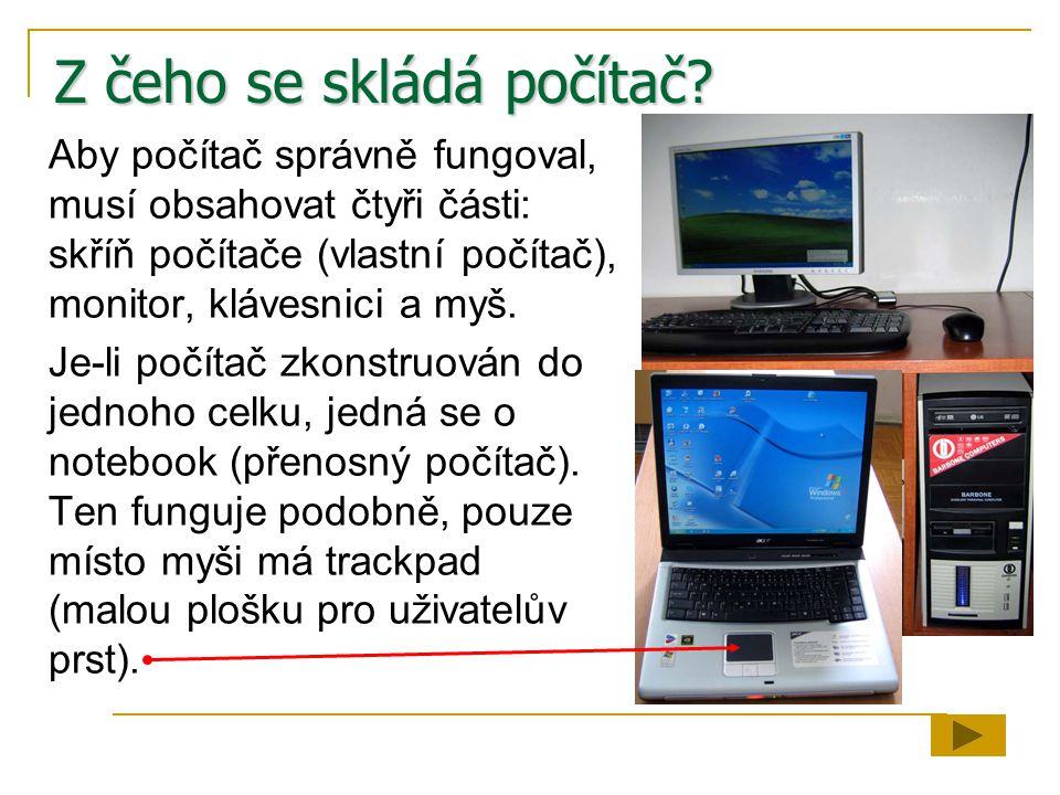 Z čeho se skládá počítač