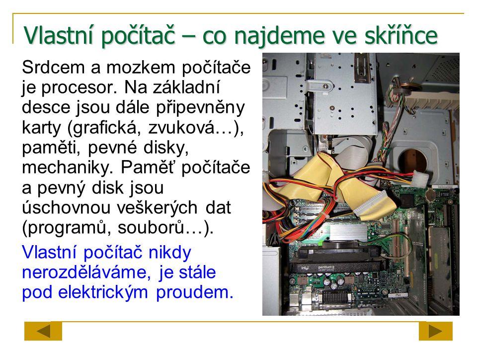 Vlastní počítač – co najdeme ve skříňce
