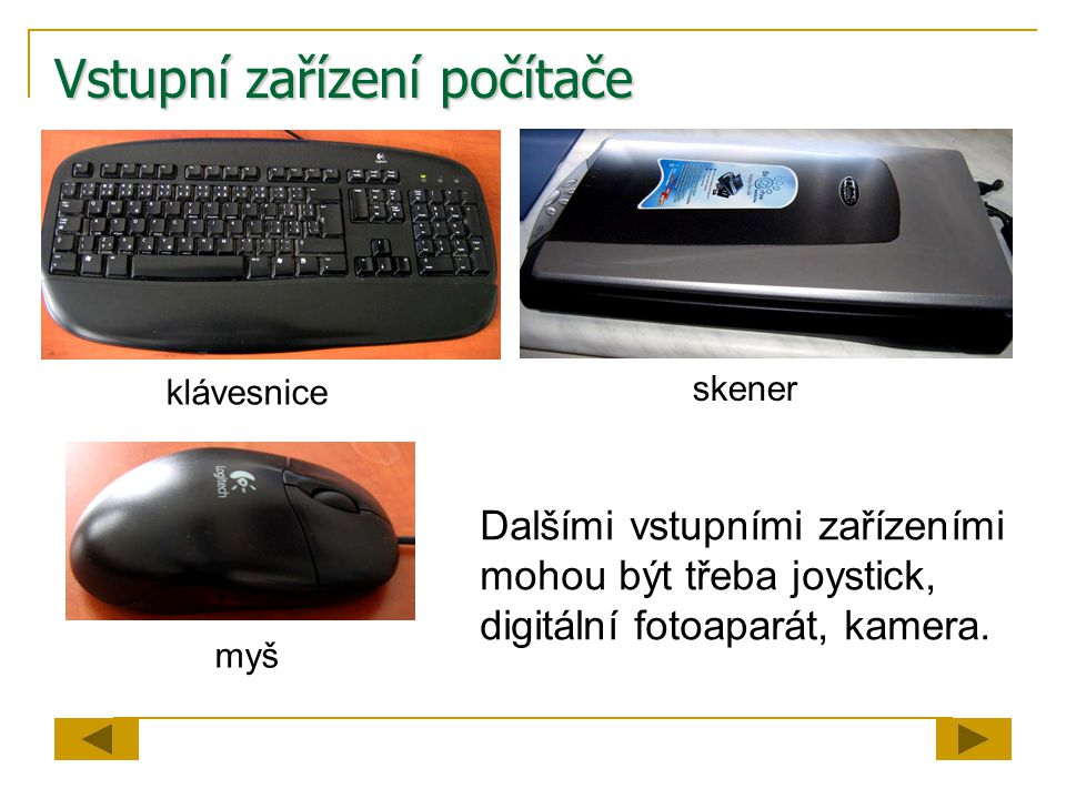 Vstupní zařízení počítače