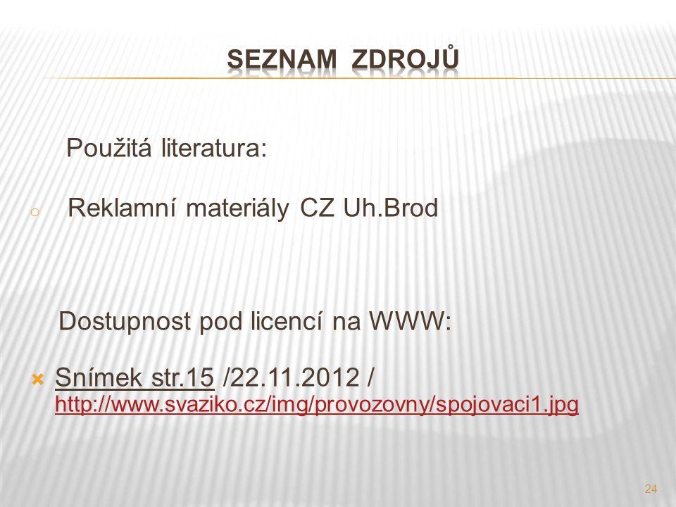 Reklamní materiály CZ Uh.Brod
