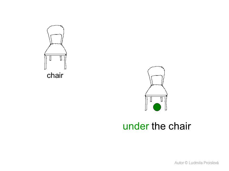 chair under the chair Autor © Ludmila Proislová