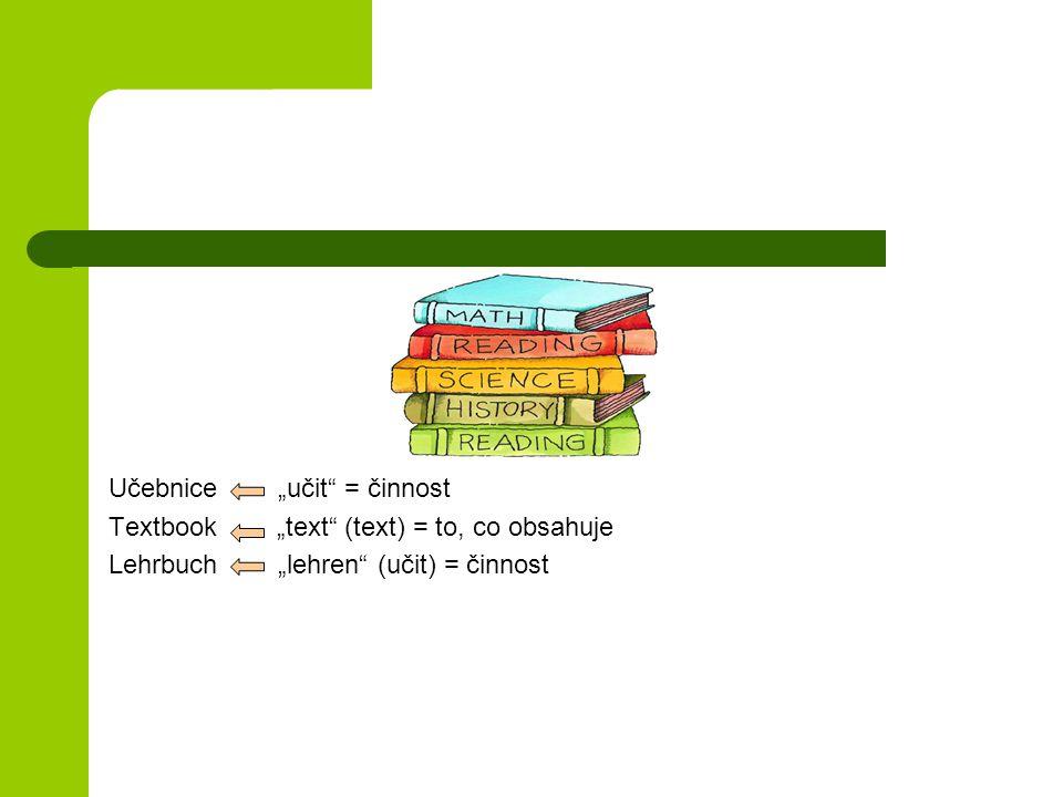 """Učebnice """"učit = činnost"""